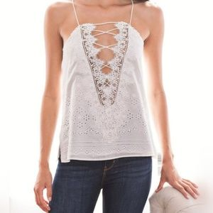 c0b694b8becdf Cami Nyc Charlie Lace-Trimmed Eyelet top